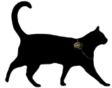 Rue de la Marguerite cat with watch necklace