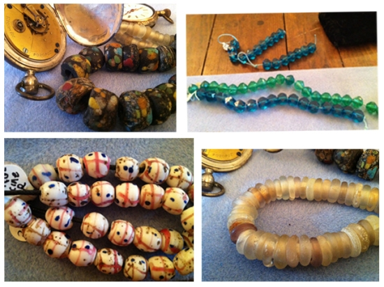 trade beads, collage, rue de la marguerite