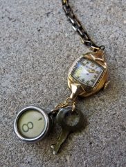 vintage watch, antique typewriter key