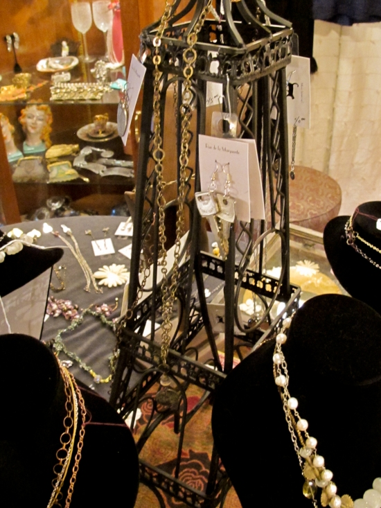 eiffel tower display at c'est la vie trunk show