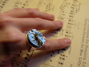 adjustable vintage watch ring