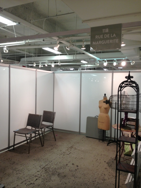 Our booth, 118, before we dazzled it.